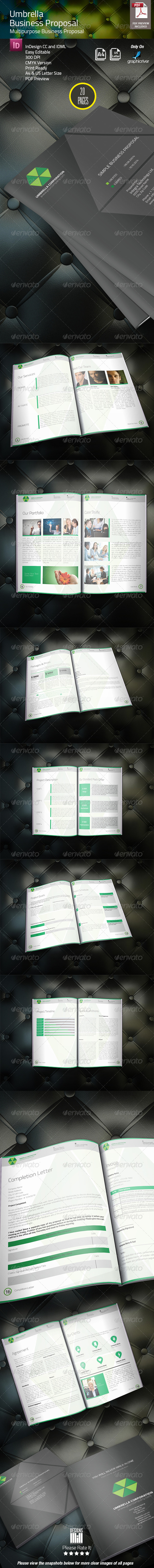 GraphicRiver Umbrella Business Proposal 8283814
