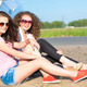 Two attractive young women wearing sunglasses - PhotoDune Item for Sale