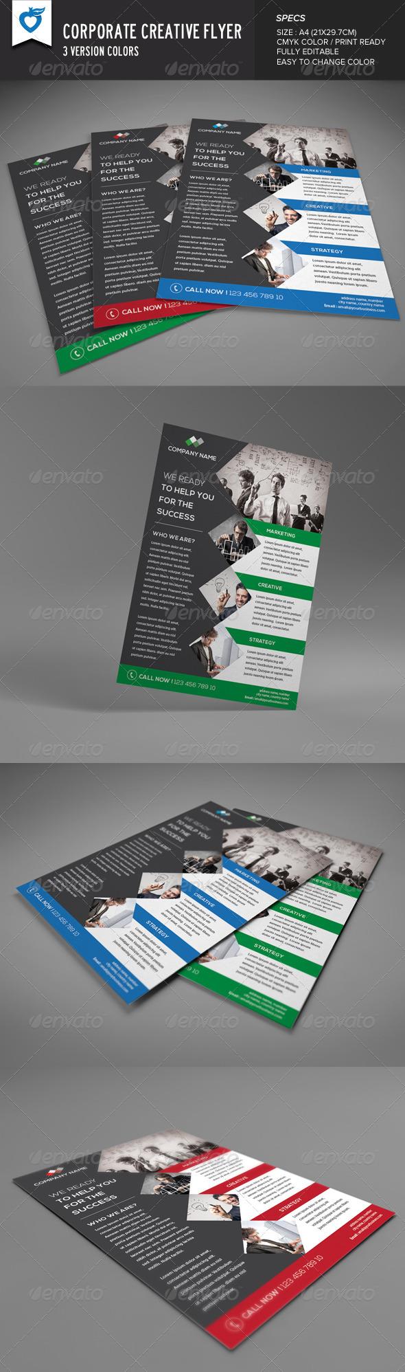 GraphicRiver Corporate Creative Flyer 8320420