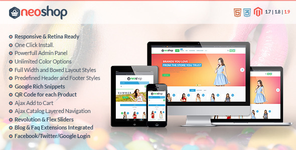 ThemeForest Neoshop Responsive & Retina Ready Magento Theme 8256540