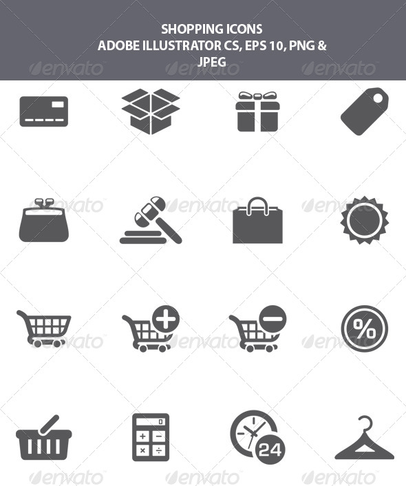 GraphicRiver Shopping Icons 8320445