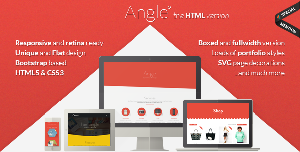 ThemeForest Angle Flat Responsive Bootstrap Template 8241353