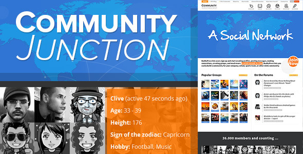 CommunityJunction - BuddyPress Theme - BuddyPress WordPress