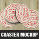 Coaster Mock Up Template - GraphicRiver Item for Sale