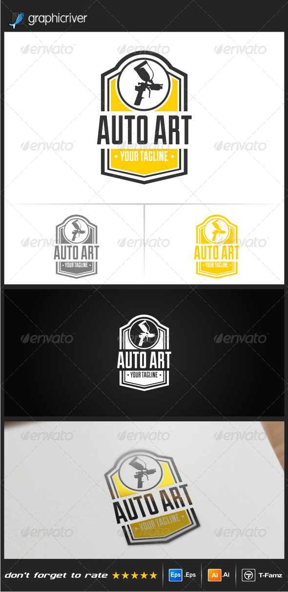 GraphicRiver Auto Art Logo Templates 8320593