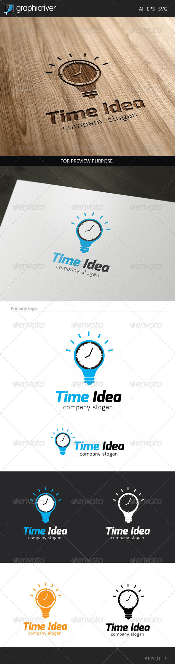 GraphicRiver Time Idea Logo 8320629
