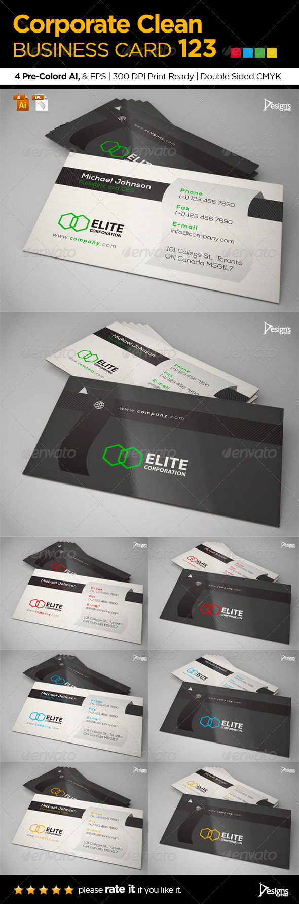 GraphicRiver Simple and Clean Business Card 123 8320663