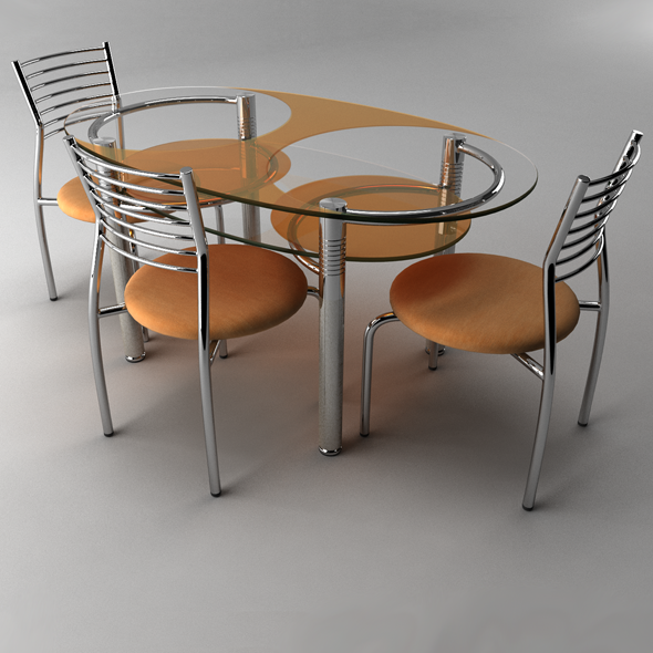 3DOcean Table with chair 6 8321031