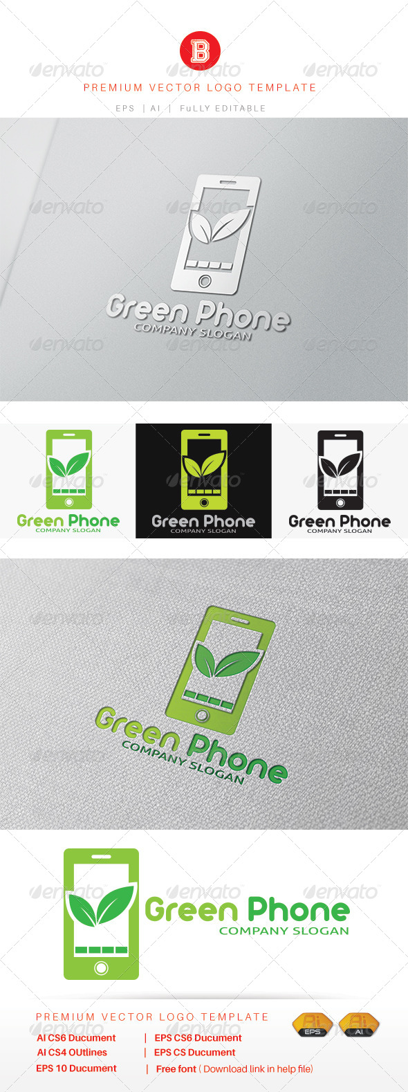 GraphicRiver Green Phone 8321043