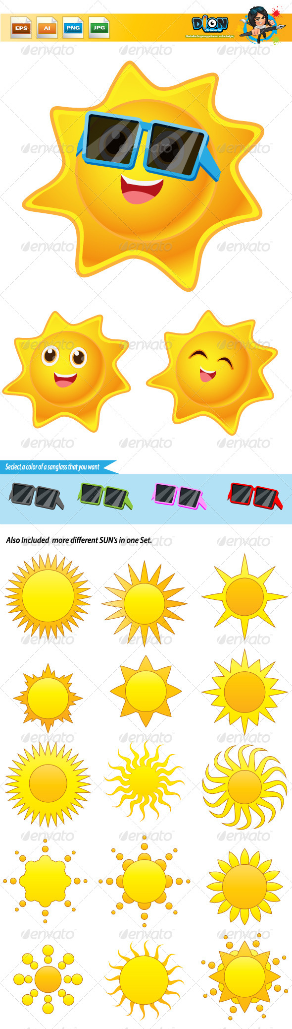 GraphicRiver Happy Sun 8320572