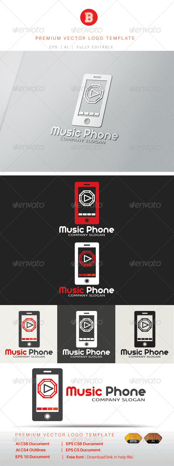 GraphicRiver Music Phone 8321112