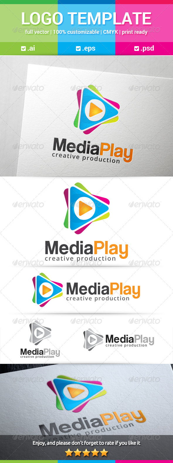 GraphicRiver Media Play Logo 8321356