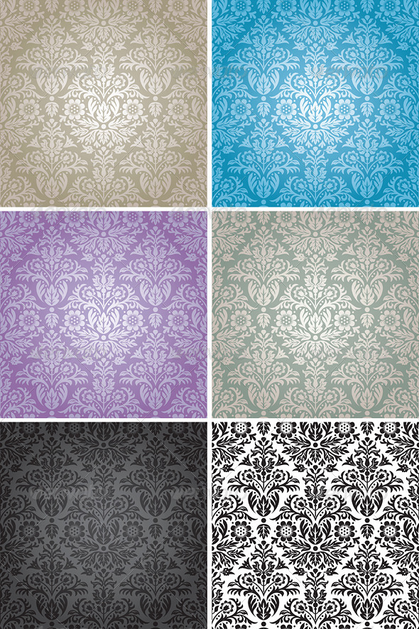 GraphicRiver Damask Seamless Floral Pattern Background 8321401