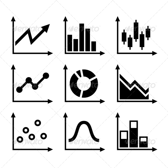 GraphicRiver Simple Set of Diagram and Graphs Vector 8321473