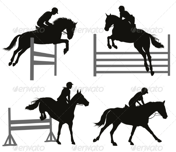 GraphicRiver Equestrian Sports Set 8321477