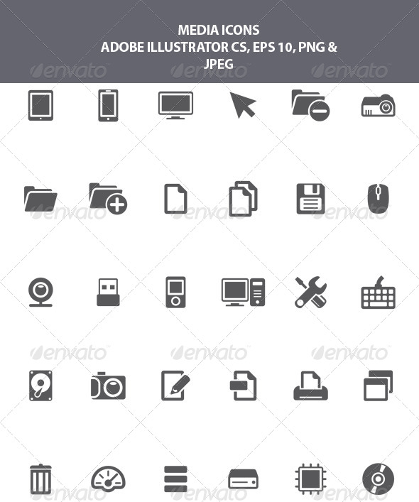 GraphicRiver Media Icons 8321520