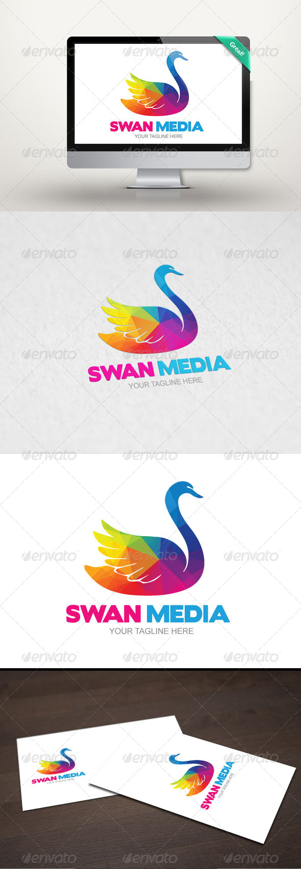 GraphicRiver Swan Media Logo Template 8321602