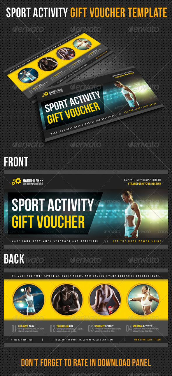 GraphicRiver Sport Activity Gift Voucher V16 8321813