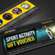Sport Activity Gift Voucher V16 - GraphicRiver Item for Sale