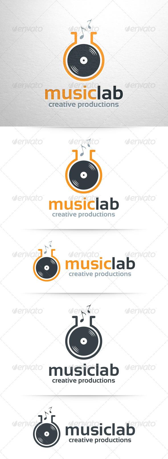 GraphicRiver Music Lab Logo Template 8321971