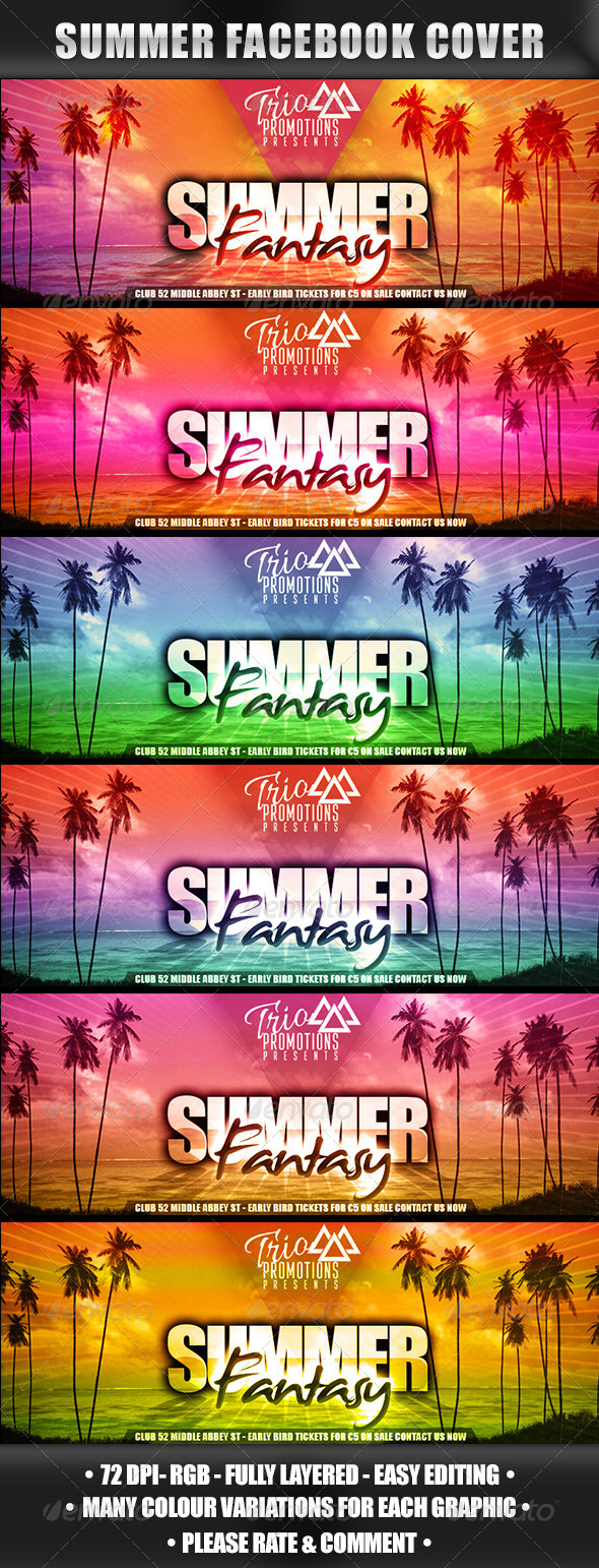 GraphicRiver Facebook Summer Event Cover 8322096