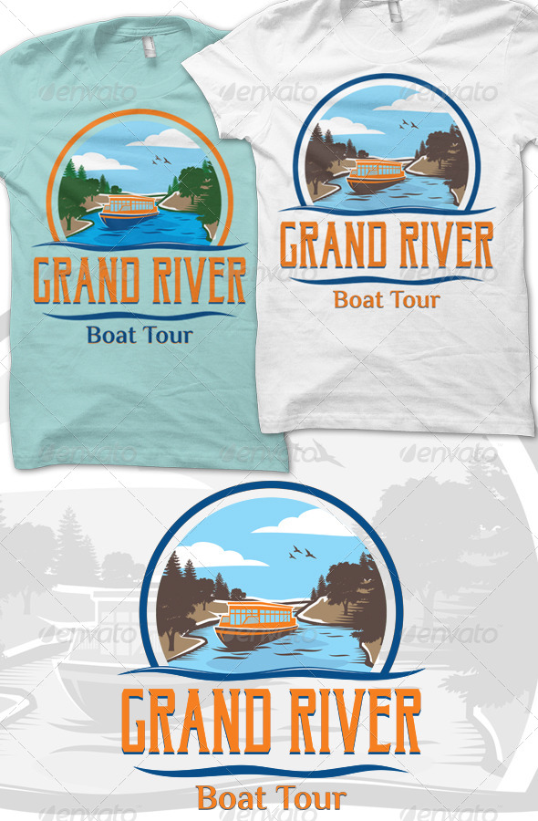 GraphicRiver Grand River T-Shirt Graphic 8292738