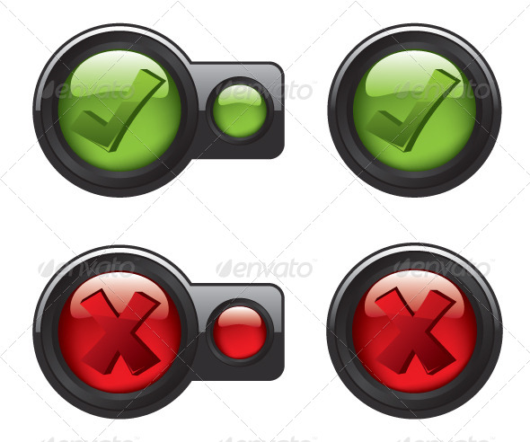 GraphicRiver Check Mark Icon Buttons 8322139