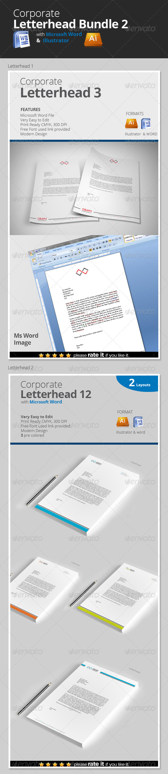 GraphicRiver Letterhead Bundle 2 8322161