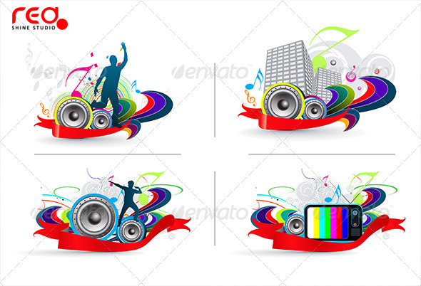 GraphicRiver Music Background 8322216