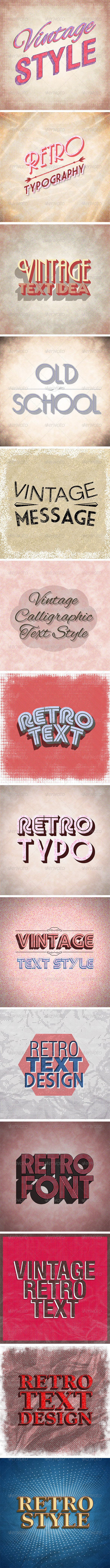 GraphicRiver 14 Retro Text Styles 8322300