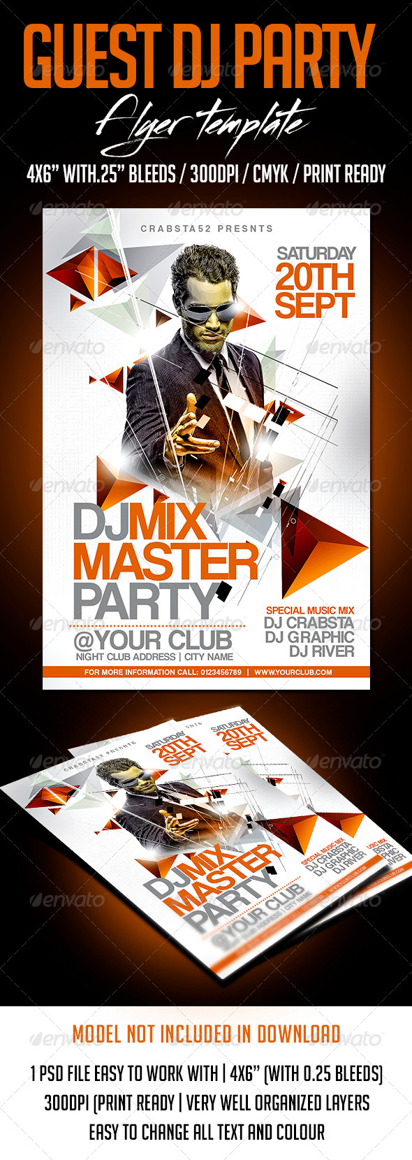 GraphicRiver Guest Dj Party Flyer Template 8322312