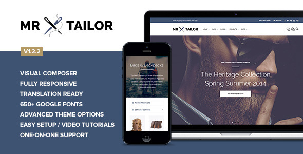 Mr. Tailor - Retina Responsive WooCommerce Theme