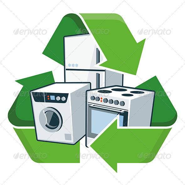 GraphicRiver Recycle Large Electronic Appliances 8322401