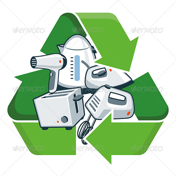 GraphicRiver Recycle Small Electronic Appliances 8322404