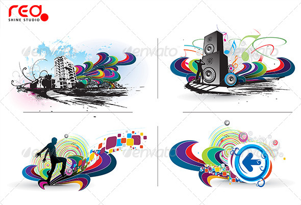 GraphicRiver Music Background 8322482