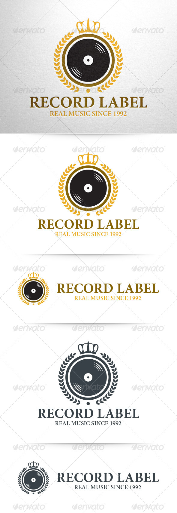 GraphicRiver Record Label Logo Template 8322506