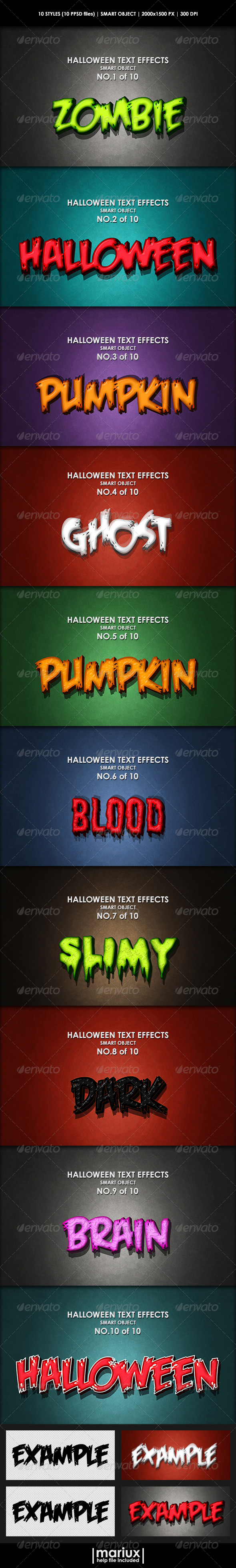 GraphicRiver Halloween Text Effects 8322509
