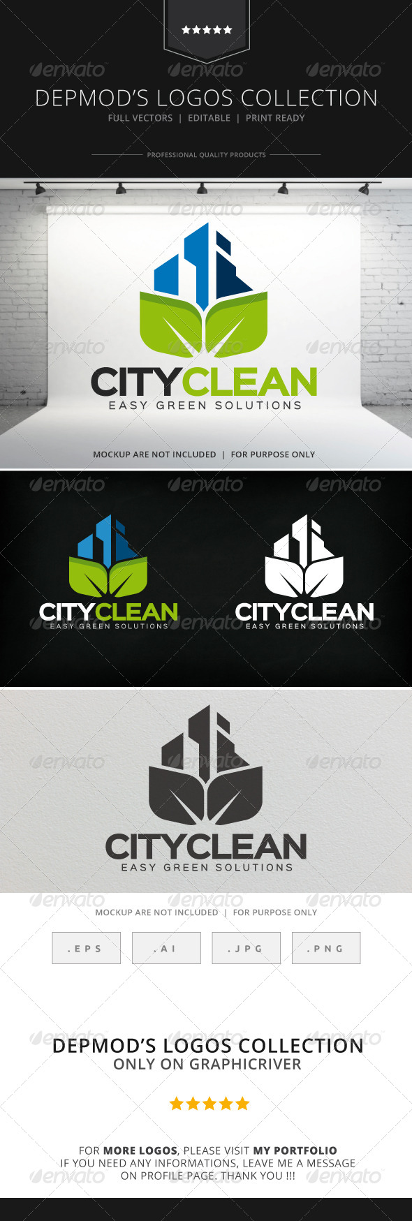GraphicRiver City Clean Logo 8322530