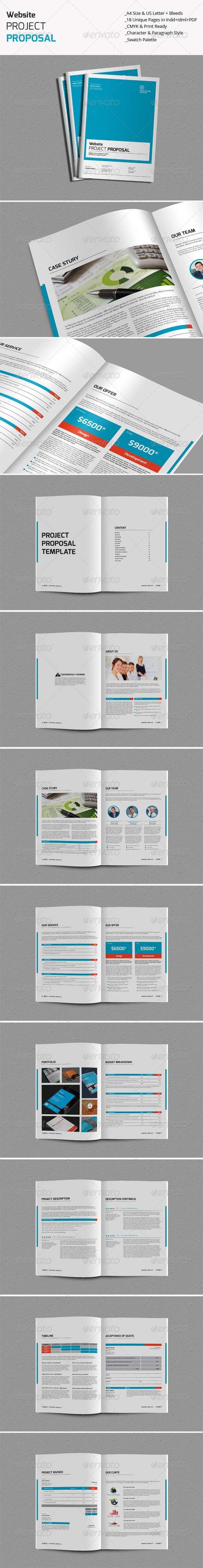 GraphicRiver Website Project Proposal Templates 8322935