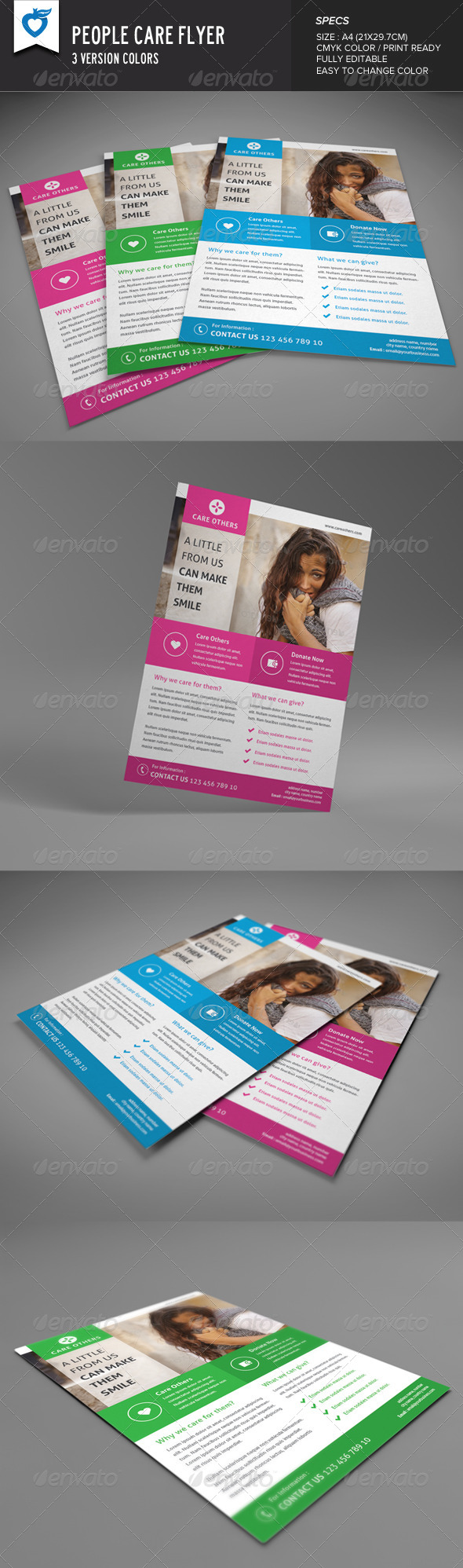 GraphicRiver People Care Flyer 8323156