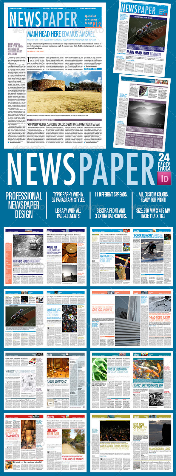 GraphicRiver Newspaper 24 Pages 8323163
