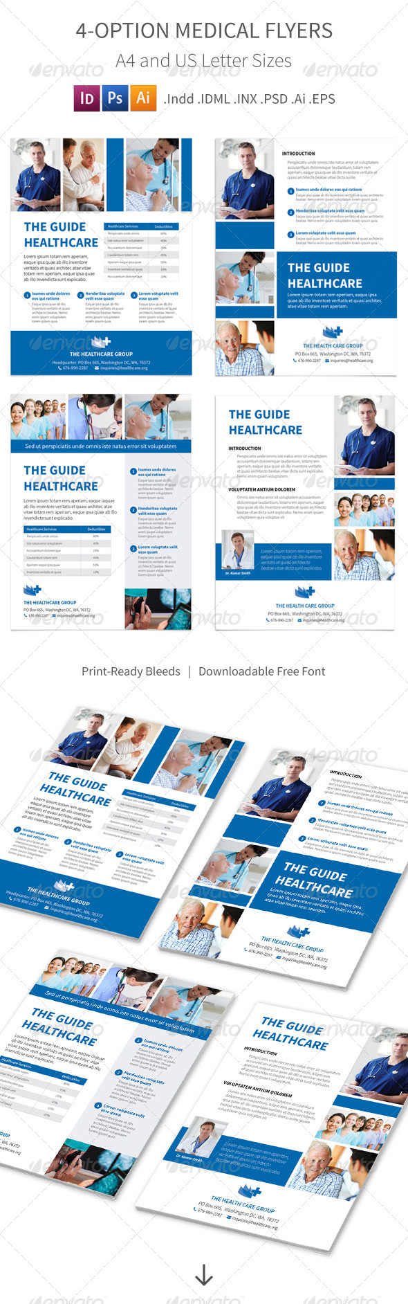 GraphicRiver Medical Flyers 4 Options 8284556