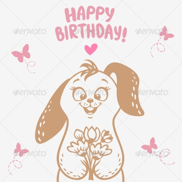 GraphicRiver Bunny Happy Birthday 8323801