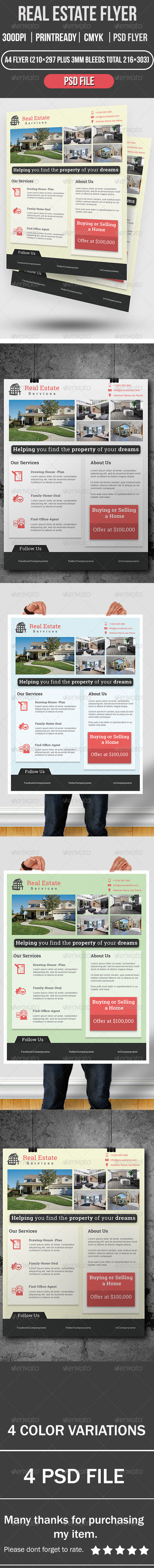 GraphicRiver Real Estate Flyer 8292776