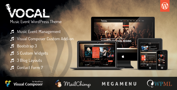 ThemeForest Vocal Music Event WordPress Theme 8324142