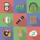Set of Music Themed Icons - GraphicRiver Item for Sale