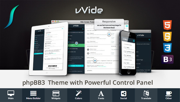 ThemeForest Wide Bootstrap 3 Responsive phpBB3 Theme 7949289