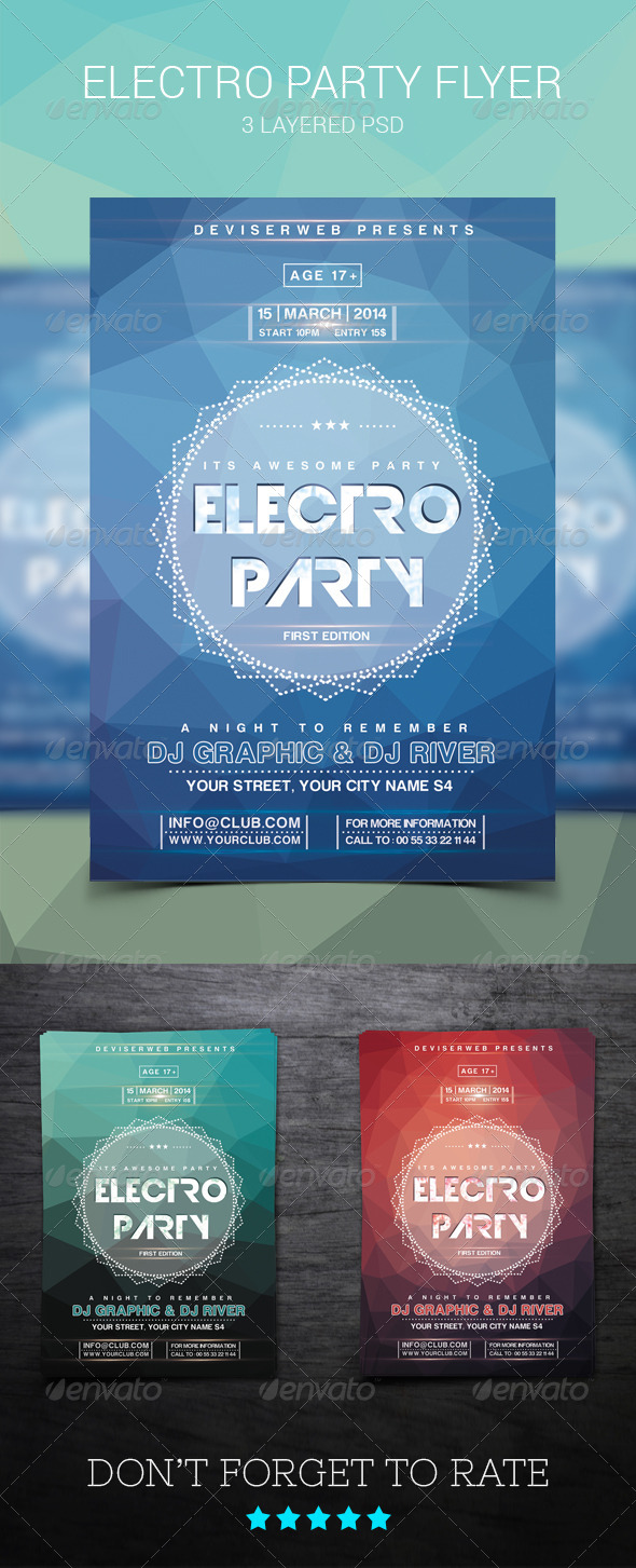 GraphicRiver Modern Electro House Party Flyer 8324231