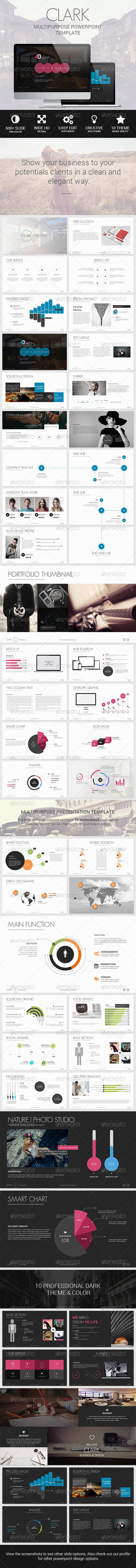 GraphicRiver Clark Business & Marketing Creative Template 8324349