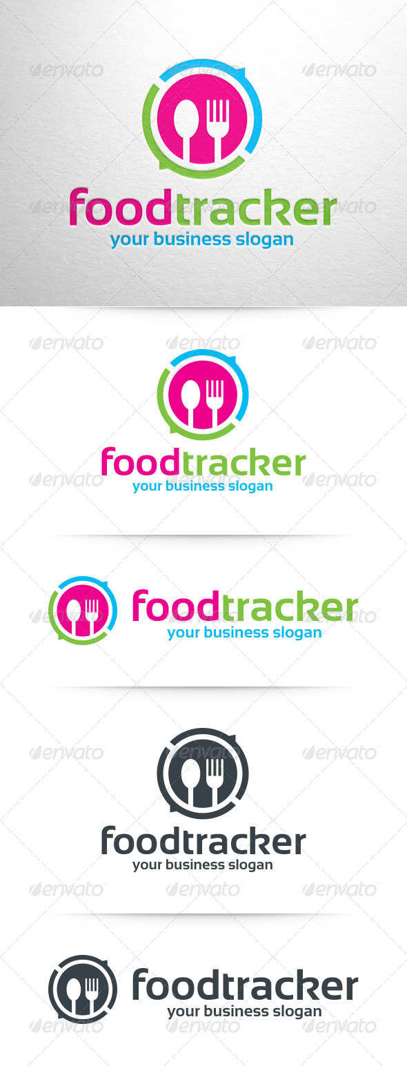 GraphicRiver Food Tracker Logo Template 8324358